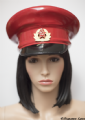 Latex Military Hat in Red with Russian cap badge size 56 (Express Item)